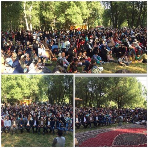 جشن مردمی در منطقه نمونه گردشگری بولاغلار نیر برگزار شد