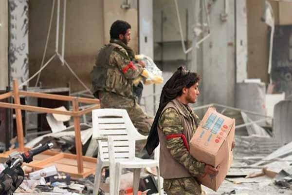 غارت منازل در راس العین و تل ابیض به دست عوامل مورد حمایت ترکیه