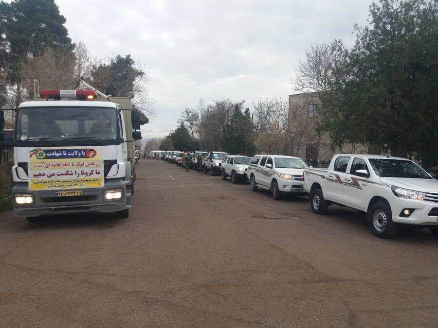 ورود خودروهای ارتش به گیلان برای مقابله با کرونا